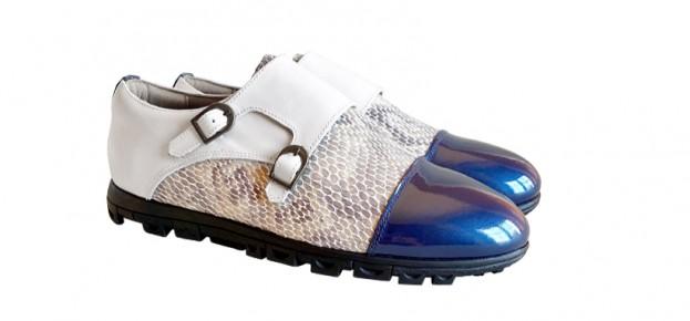 Charol Azul Navy - Diamond Gris - Basic Blanco